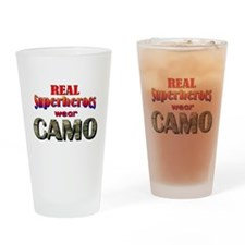 real superheroes - Multicam Drinking Glass