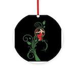 Mucha art christmas Ornament (Round)