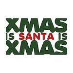 Santas Xmas 38.5 x 24.5 Wall Peel