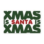Santas Xmas 22x14 Wall Peel