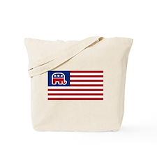 GOP elephant logo USA Tote Bag