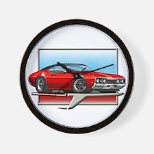 Red BT 68 Cutlass Wall Clock