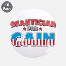 """Beautician for Cain 3.5"""" Button (10 pack)"""