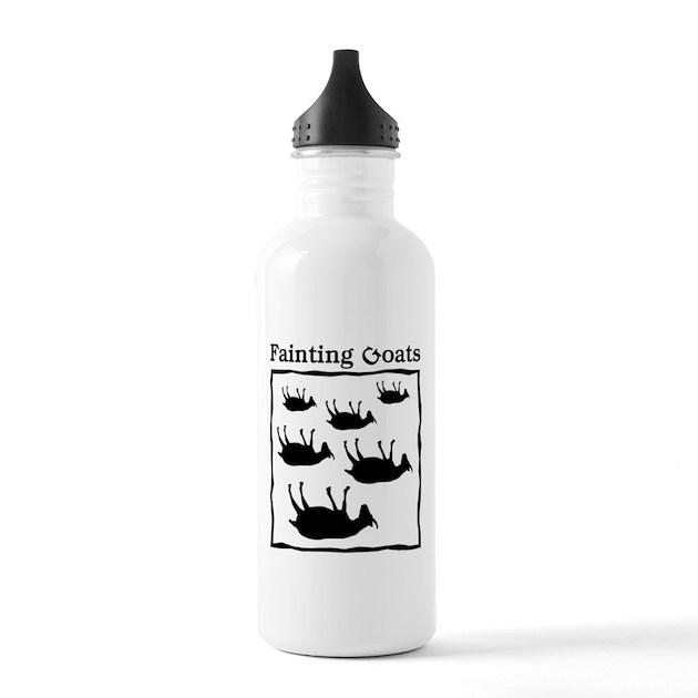 Fainting Goats Sports Water Bottle By JellyBrainJamboree