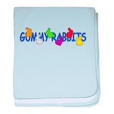 Gummy Rabbits baby blanket