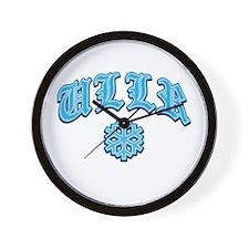 Ullr Fest Snowflake Wall Clock