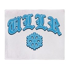 Ullr Fest Snowflake Throw Blanket