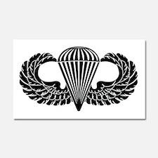 Parachutist -- B-W Car Magnet 20 x 12