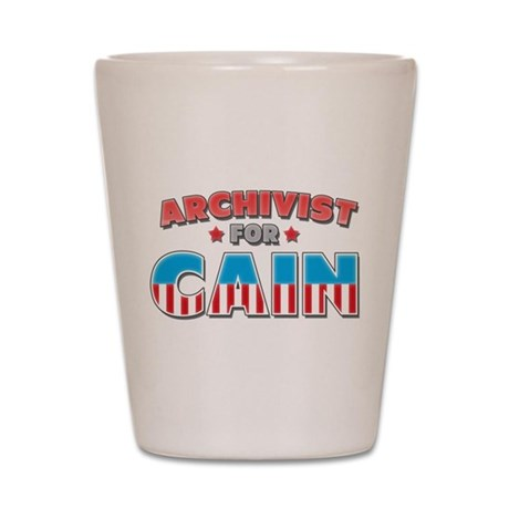 Archivist for Cain Shot Glass