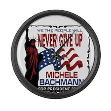 Michele Bachmann Large Wall Clock