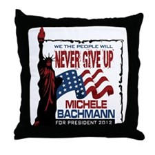 Michele Bachmann Throw Pillow