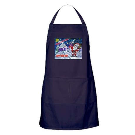 Merry Christmas From Santa Apron (dark)