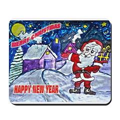 Merry Christmas From Santa Mousepad