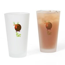 Pat the Reindeer Drinking Glass