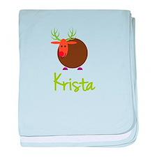 Krista the Reindeer baby blanket
