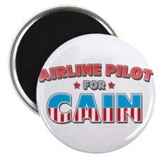 "Airline pilot for Cain 2.25"" Magnet (10 pack)"
