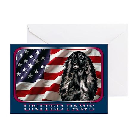 Afghan Hound Dog Flag Greeting Cards(6)