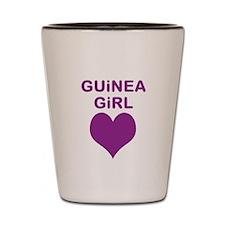 GUINEA GIRL SHOT GLASS