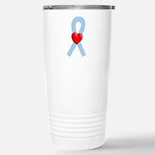 Lt Blue Ribbon Travel Mug
