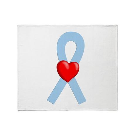 Lt Blue Ribbon Throw Blanket