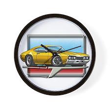 Gold 68 Cutlass Wall Clock