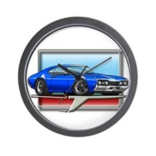 Blue 68 Cutlass Wall Clock
