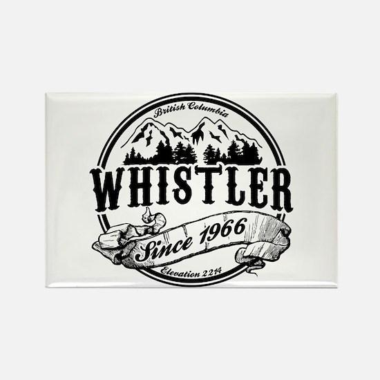 Whistler Old Circle Rectangle Magnet