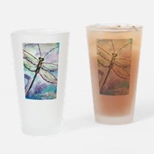 Dragonfly, beautiful, art, Drinking Glass