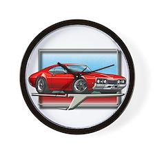 Red 68 Cutlass Wall Clock