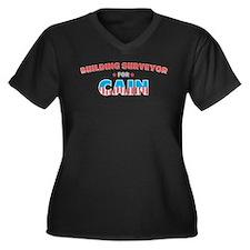 Building surveyor for Cain Women's Plus Size V-Nec