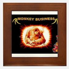 Jmcks Monkey Business Framed Tile