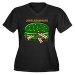 Jingle Burger! Women's Plus Size V-Neck Dark T-Shi