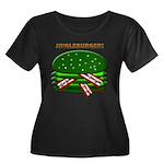 Jingle Burger! Women's Plus Size Scoop Neck Dark T