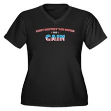 Light Delivery Van Driver for Women's Plus Size V-