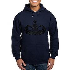 Sr. Parachutist -- B-W Hoodie