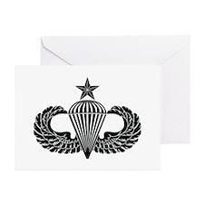 Sr. Parachutist -- B-W Greeting Cards (Pk of 10)