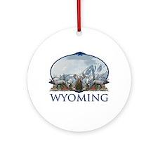 Wyoming Ornament (Round)