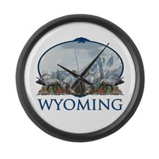 Wyoming Large Wall Clock