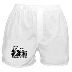 Ukulele Panda Family Boxer Shorts