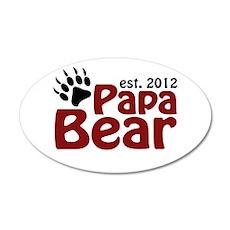 Papa Bear Claw Est 2012 Wall Decal