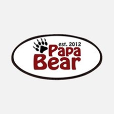 Papa Bear Claw Est 2012 Patches