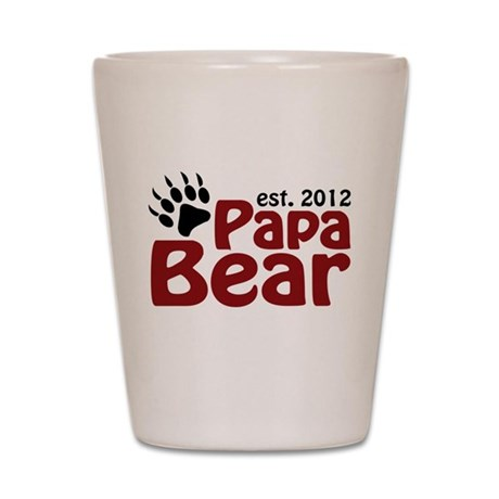 Papa Bear Claw Est 2012 Shot Glass