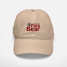 Papa Bear Claw Est 2012 Baseball Baseball Cap