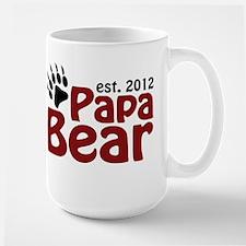 Papa Bear Claw Est 2012 Mug