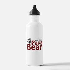 Papa Bear Claw Est 2012 Water Bottle