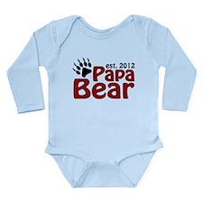 Papa Bear Claw Est 2012 Long Sleeve Infant Bodysui