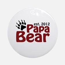 Papa Bear Claw Est 2012 Ornament (Round)