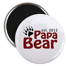 Papa Bear Claw Est 2012 Magnet