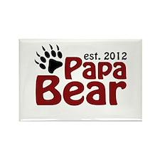 Papa Bear Claw Est 2012 Rectangle Magnet