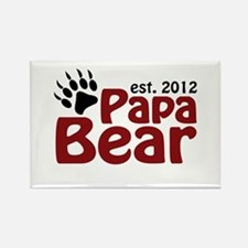 Papa Bear Claw Est 2012 Rectangle Magnet